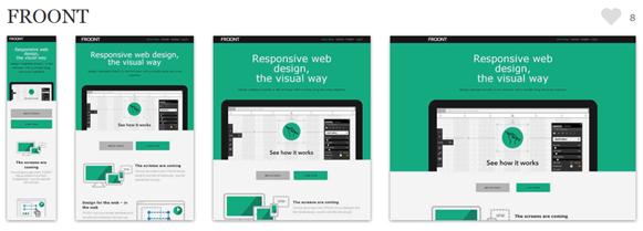 Froont 响应式设计网站截屏