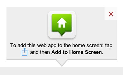 JavaScript为iphone添加到主屏幕