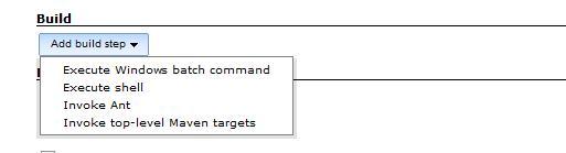 图 12. 四种 build step 供选择