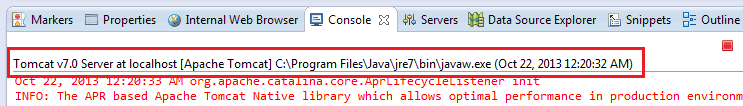 JRE version in Console view