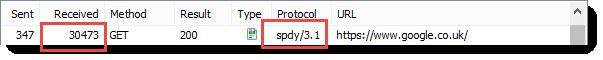 SPDY Text Response Size