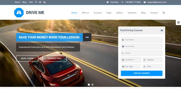 Driveme---Driving-School-WordPress-Theme