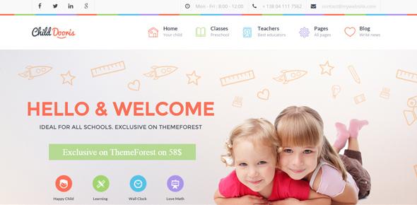 Child-Dooris---Kindergarten-&-School-WordPress-Theme