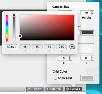Canvas color change