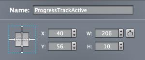 Progress Track Resizing