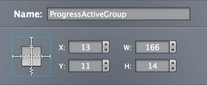 Progress active group sizing
