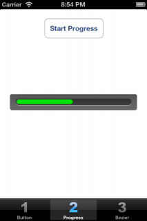 Testing progress with button