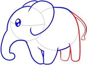 简笔画 大象