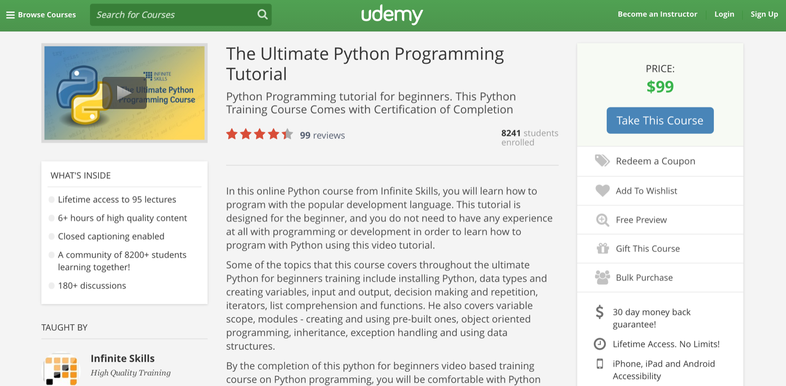 Python with 95 lectures spanning over 6 hours this python course has an average rating above 4 stars for being easy to follow and to the point baditri Gallery