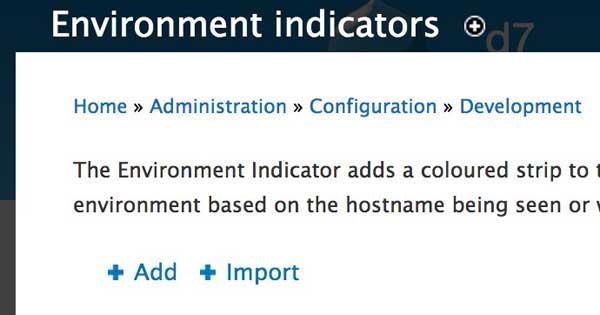 Environment Indicator 配置