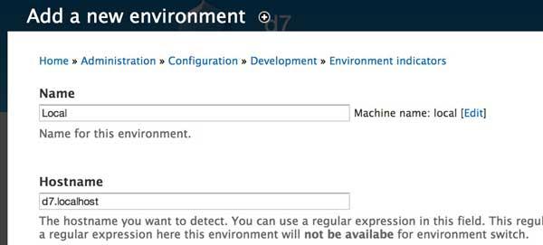 Environment Indicator 设置名称