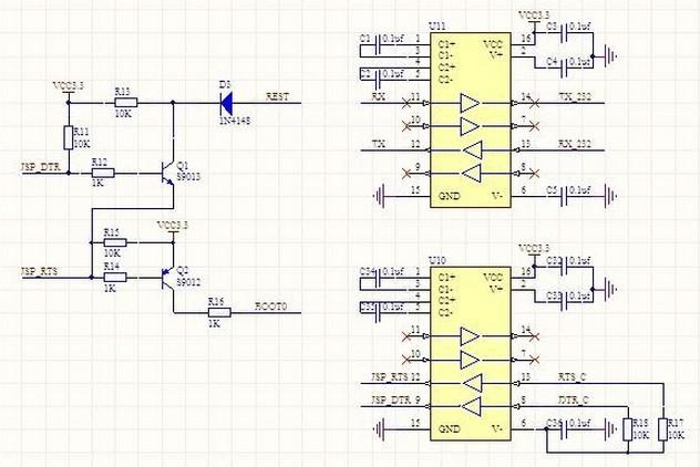 STM32单片机串口一键下载电路与操作方法详解图片