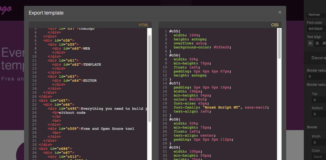 GrapesJS - Code Viewer