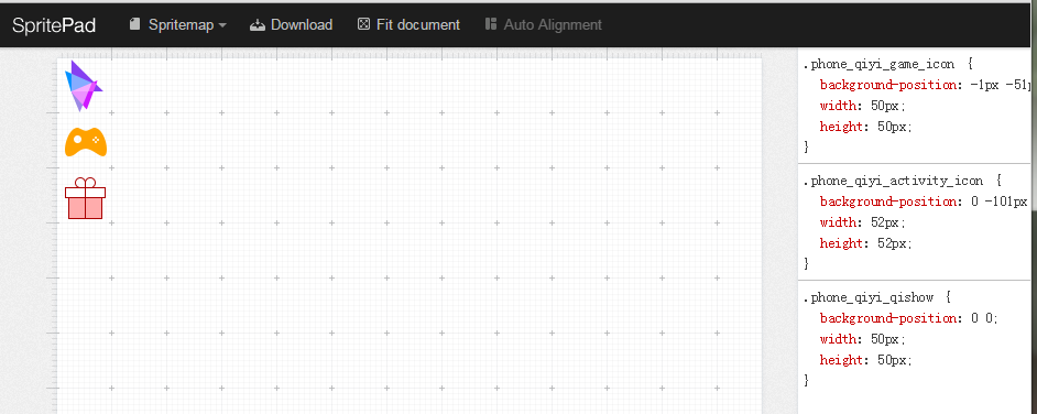 SpritePad界面示例