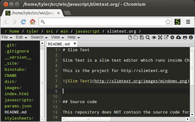 Slim Text for Linux