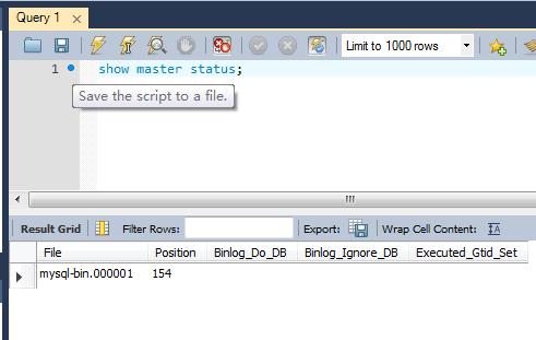 MySQL Master Status