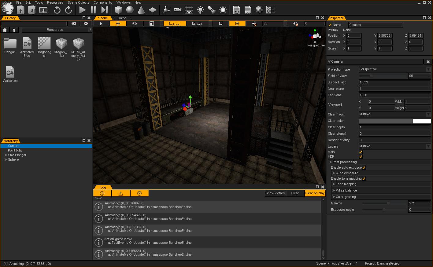 多平台游戏开发工具包 BansheeEngine