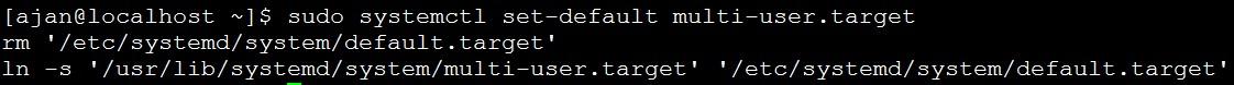 设置默认运行级别为字符终端