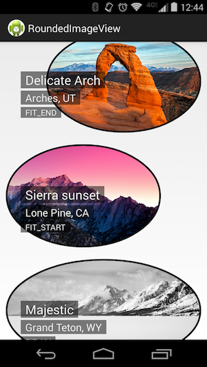 RoundedImageView screenshot with ovals