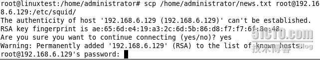 Linux下scp的用法  - 飞翔天空 - 飞翔天空