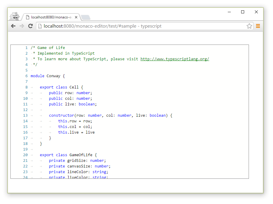 基于浏览器的代码编辑器 monaco-editor