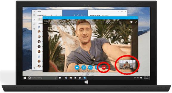 Desktop communication app UI