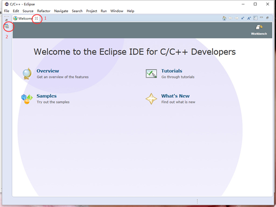 ESP8266 蘑菇云 IDE编程环境 Eclipse 欢迎窗口