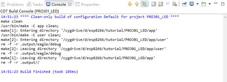 ESP8266 蘑菇云 IDE编程环境 Eclipse Build Finished