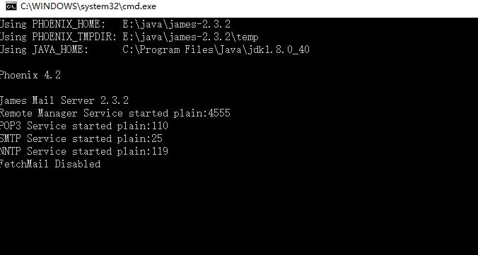 james-2.3.2正常启动