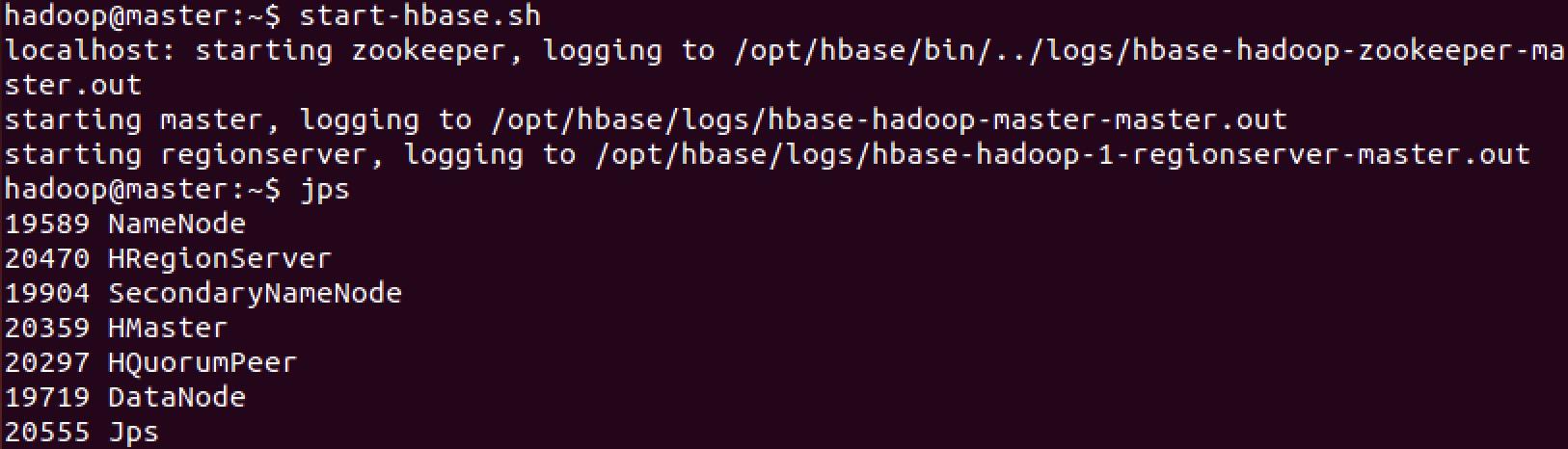 start-hbase-pd