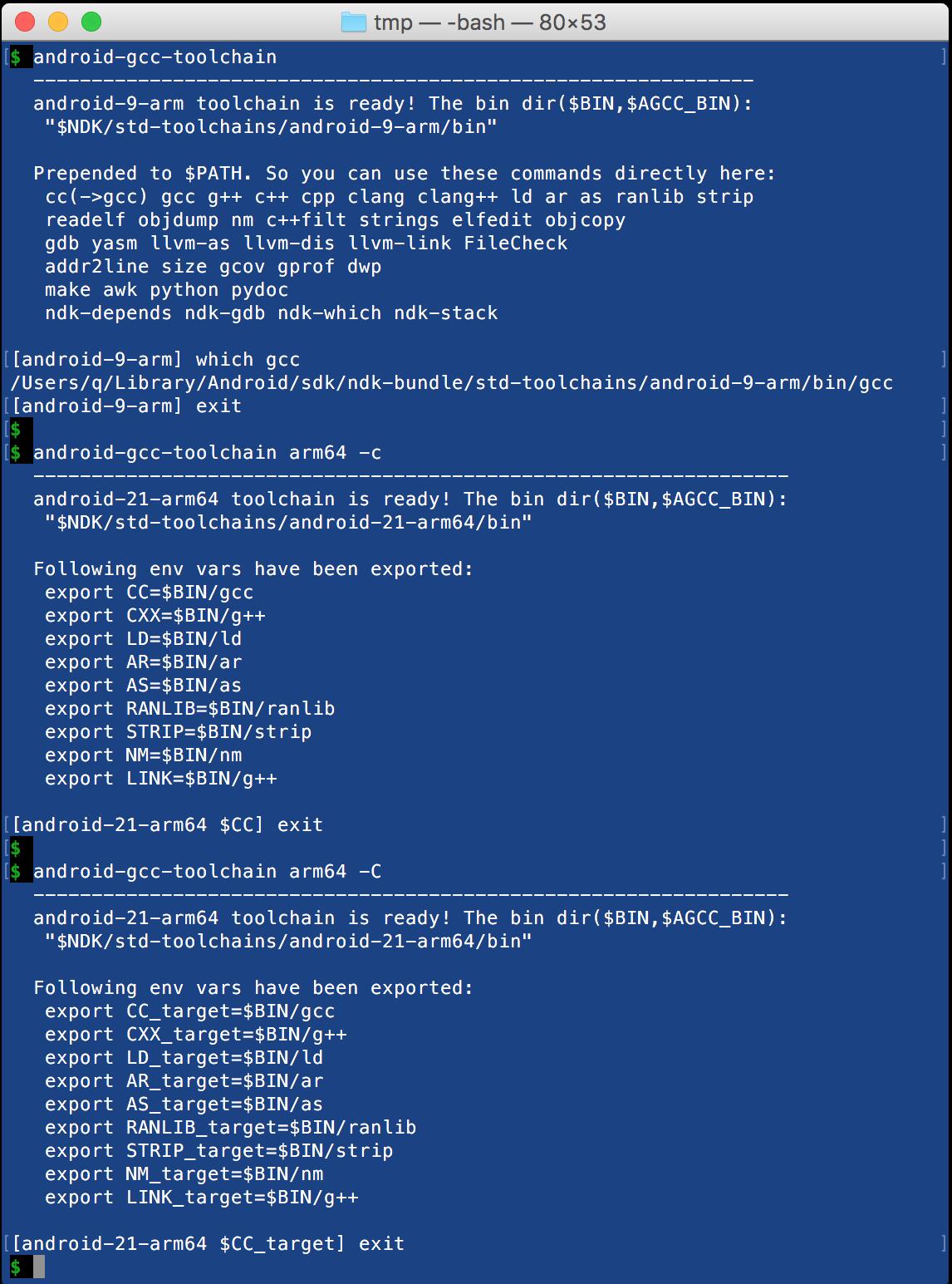 做了个工具android-gcc-toolchain方便使用NDK - Q_J的个人页面- OSCHINA