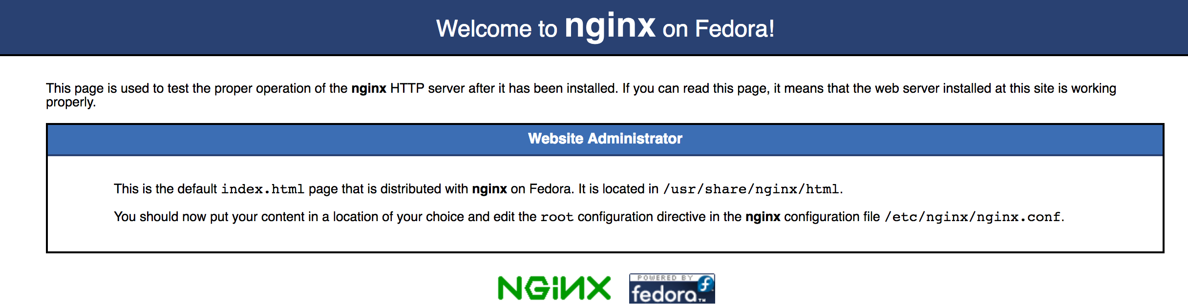 nginx配置成功