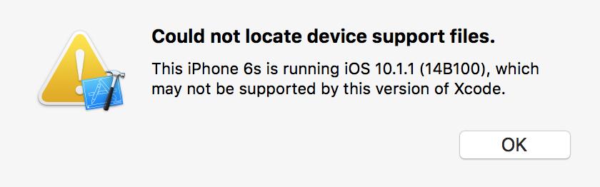 Xcode 8.0 与 iOS 10.1