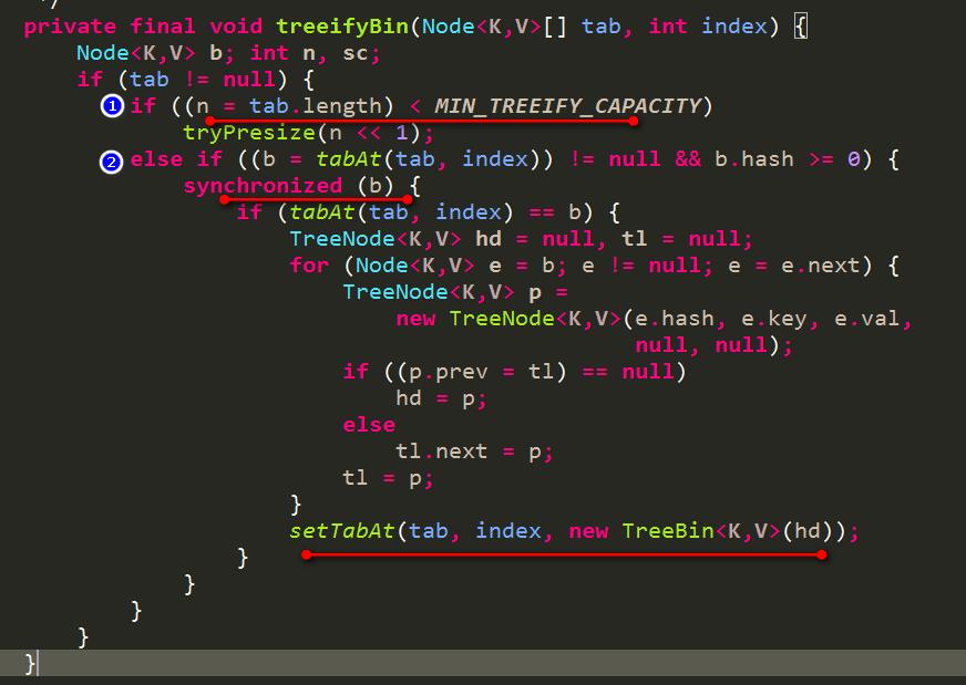 扩容或者链表转红黑树