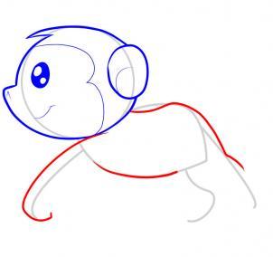 简笔画~猴子4