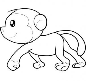 简笔画~猴子8