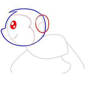 简笔画~猴子3