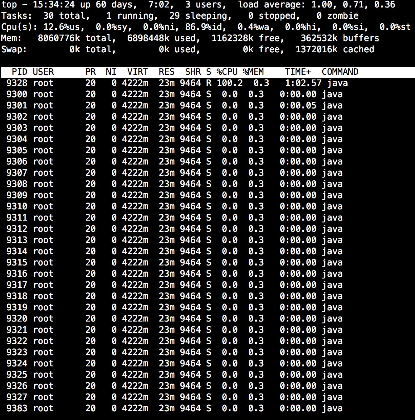 如何定位消耗CPU最多的线程
