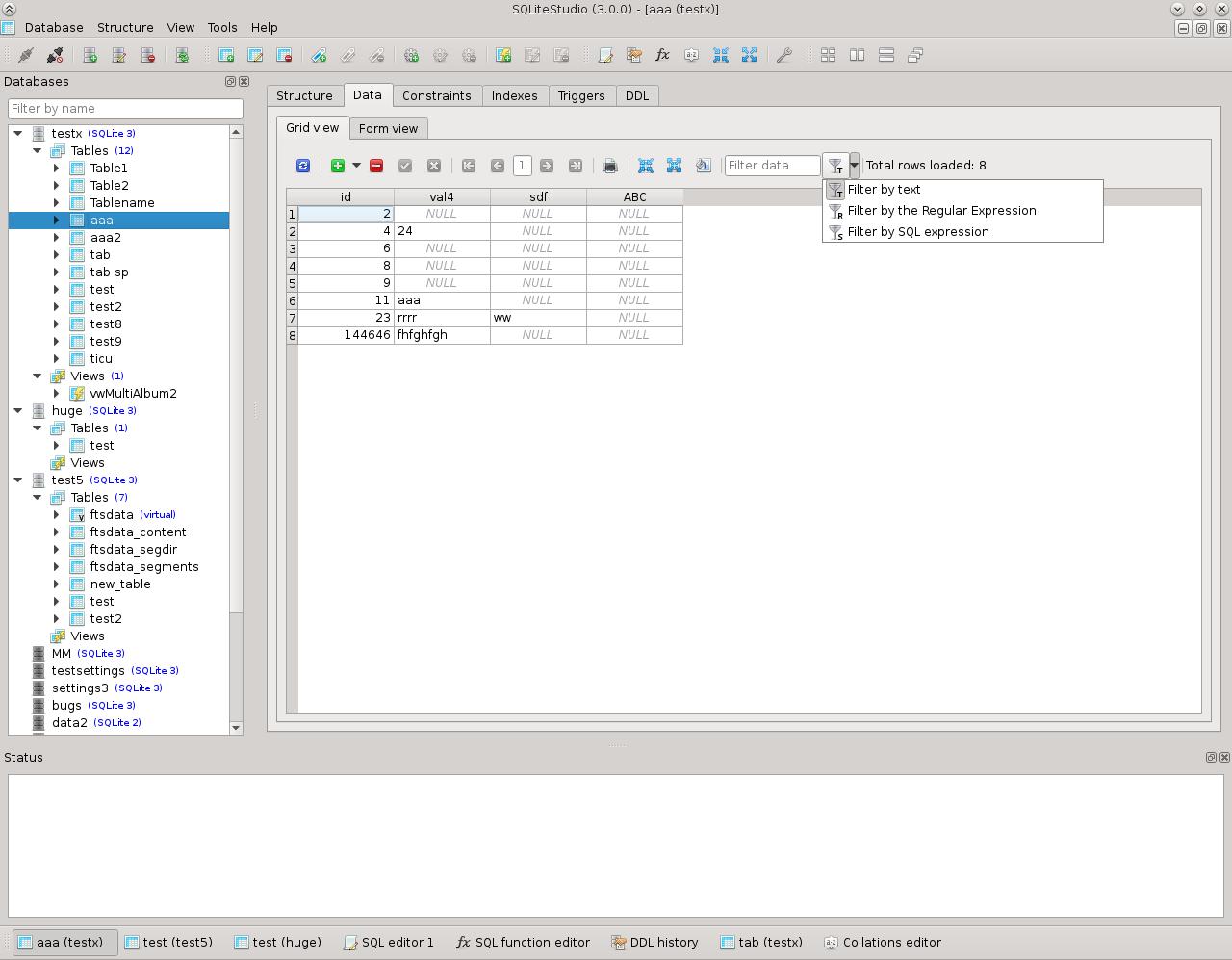 SQLite管理工具 SQLiteStudio