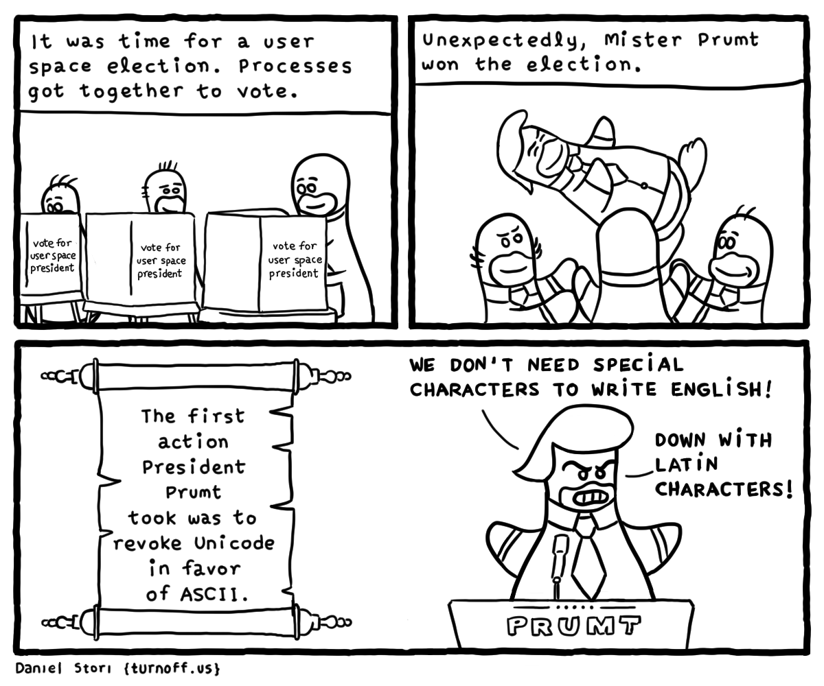User Space Election geek comic