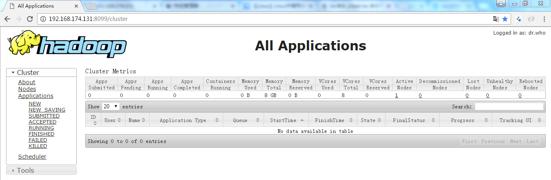 Hadoop运行界面