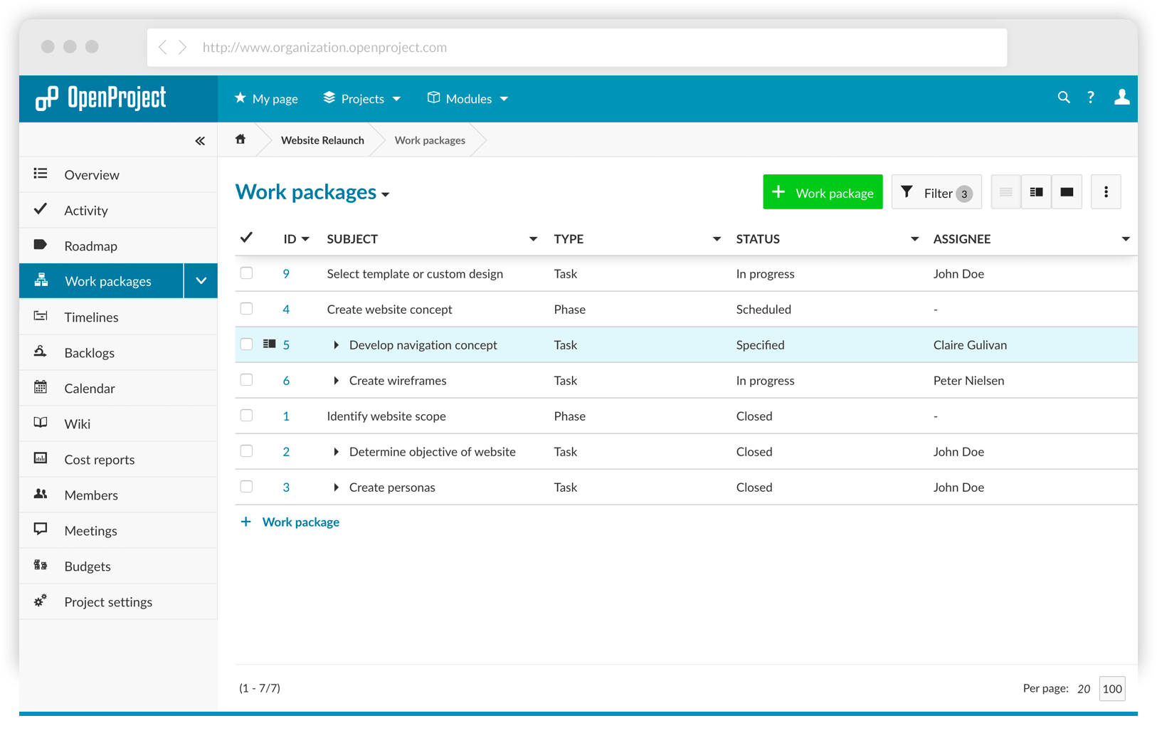 项目管理软件 OpenProject