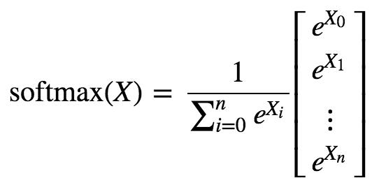 softmax(X)