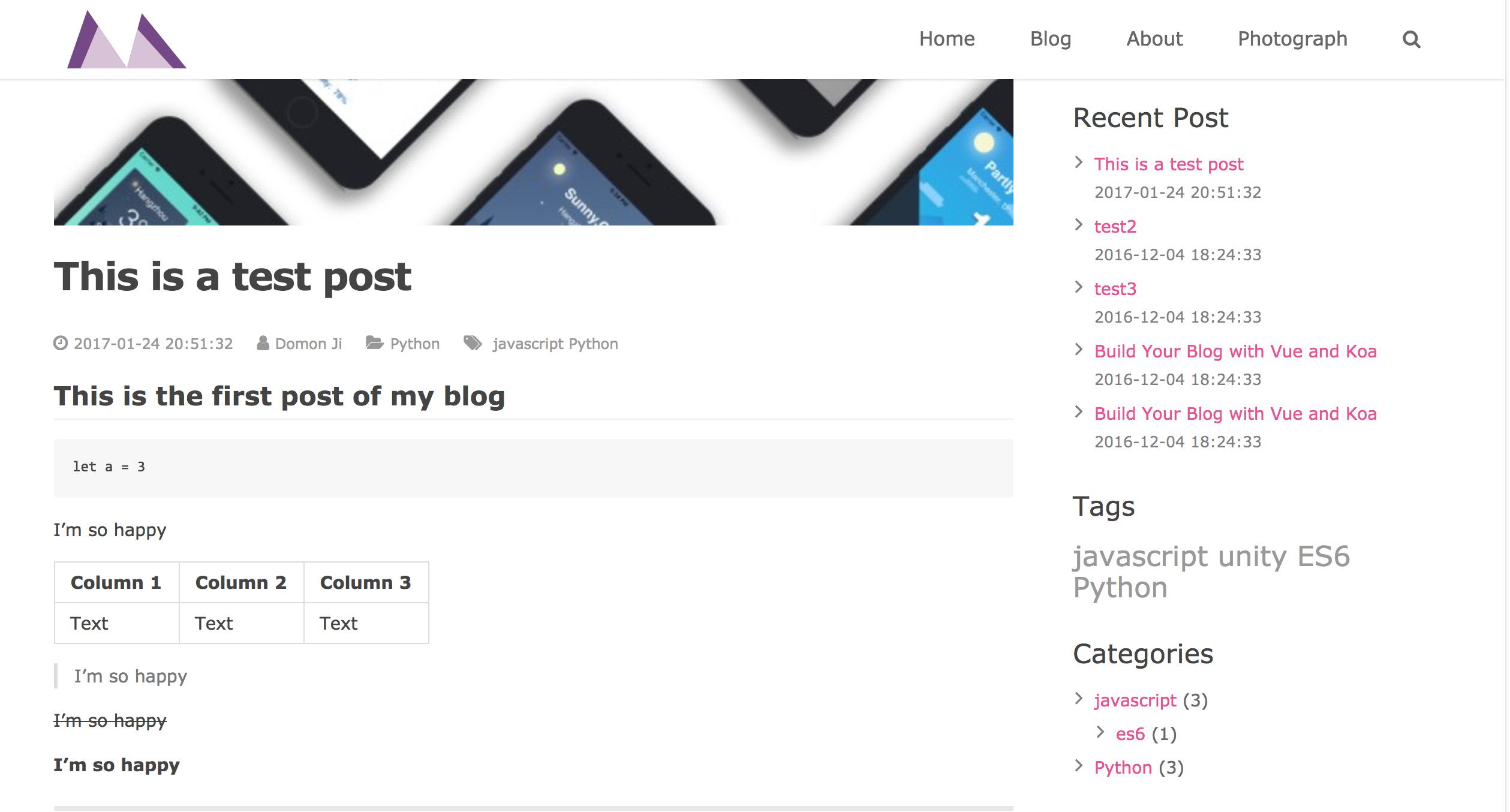 基于 Vue 打造的个人博客系统 Monkov