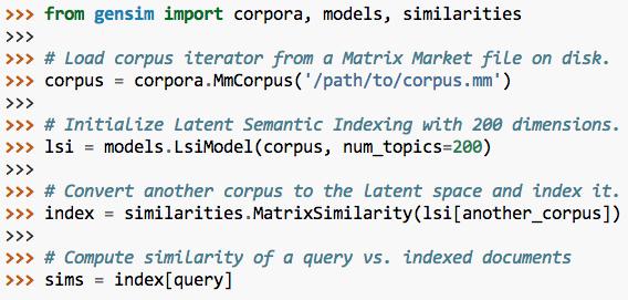 主题模型 Python 工具包 Gensim