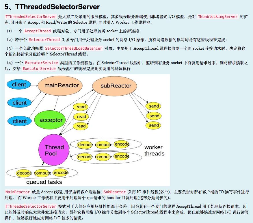 TThreadedSelectorServer线程模型
