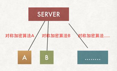 Web服务器与每个客户端使用不同对称加密算法