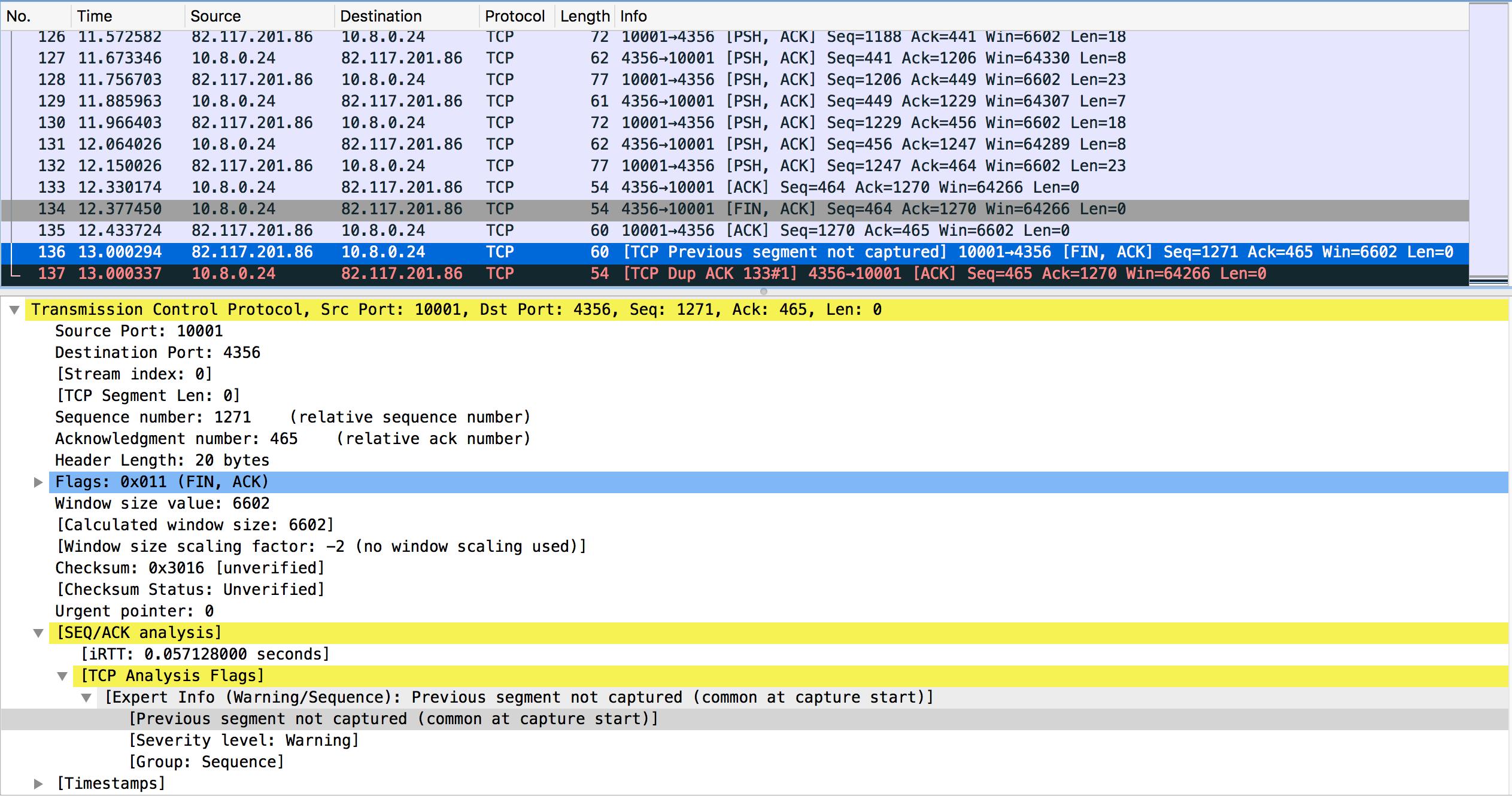 tcp 连接关闭时由于协议栈bug导致的认为数据包丢失