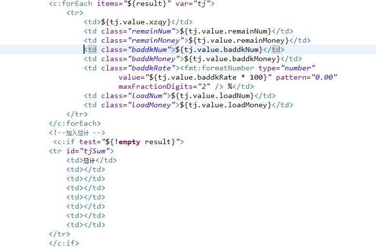 jstl的代码