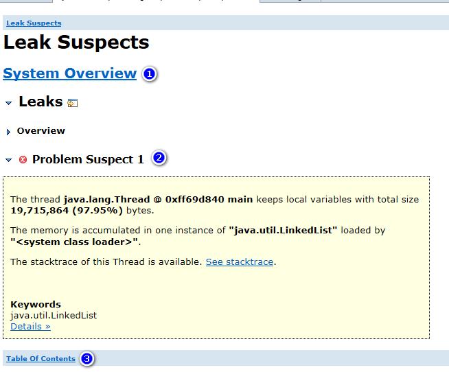 leak suspect